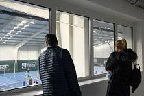 Přístavba nové tenisové haly v Přerově.