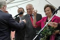 Prezidentský pár na návštěvě Rokytnice
