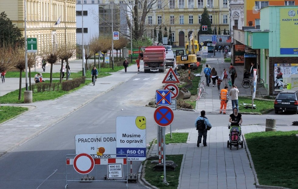 Rozšiřování Palackého ulice v Přerově