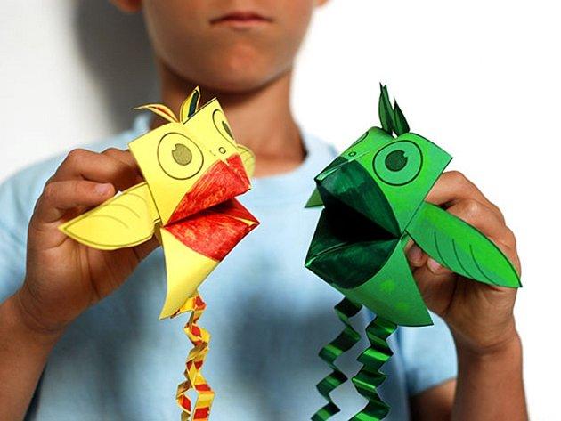 Tvoříme ptáčky zpapíru!