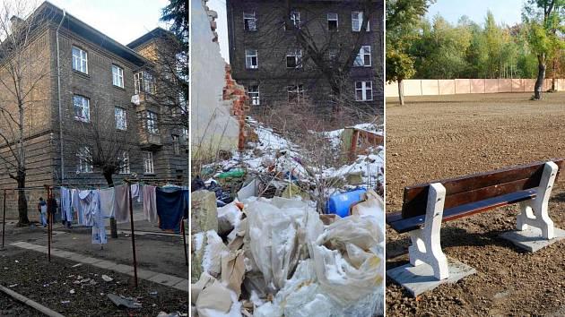 Bývalé romské ghetto ve Škodově ulici v Přerově v letech 2008 - 2015 - 2019
