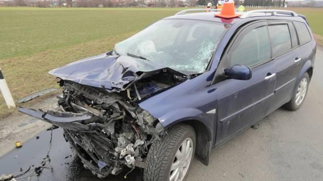 Nehoda se zraněním mezi obcemi Vlkoš a Bochoř