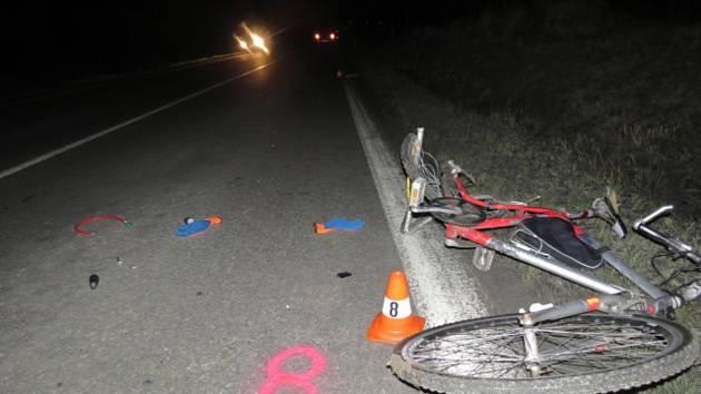 Tragická srážka s cyklistou v neděli 12. ledna 2020 v podvečer na silnici mezi Dřevohosticemi a Lipovou.