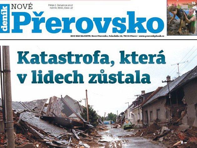 Týdeník Nové Přerovsko - speciál ke 20 letům od povodní 1997