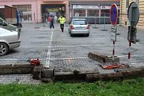 Stavba parčíku místo parkoviště u velké pasáže v Přerově začala v říjnu 2014
