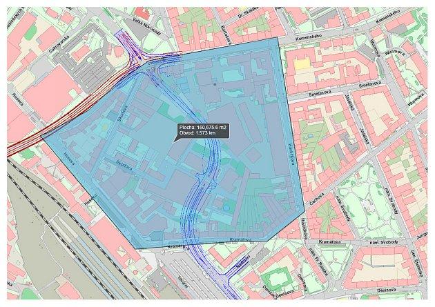 Jak bude vypadat okolí takzvaného průpichu, určí urbanistická studie.