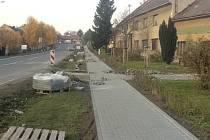 Stavební práce jsou v Horní Moštěnici v plném proudu.