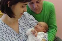 Malá Laura s rodiči - první miminko roku 2010 v přerovské porodnici