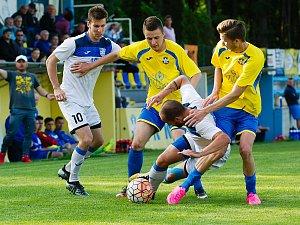 Fotbalisté Kozlovic proti MFK Havířov (2:0).