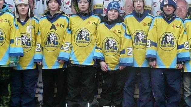 Mladí hokejisté HC ZUBR Přerov