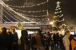 Vánoční trhy na přerovském náměstí. Ilustrační foto