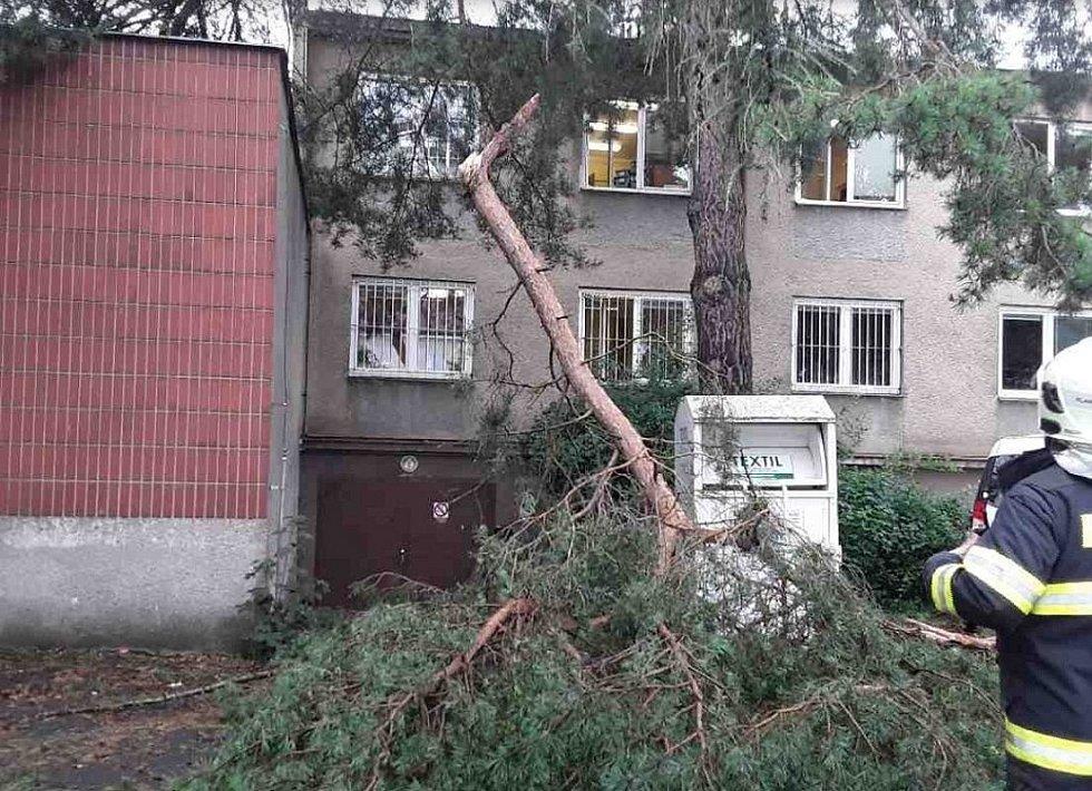 Následky bouřky 28.7.2020 na Přerovsku a Hranicku