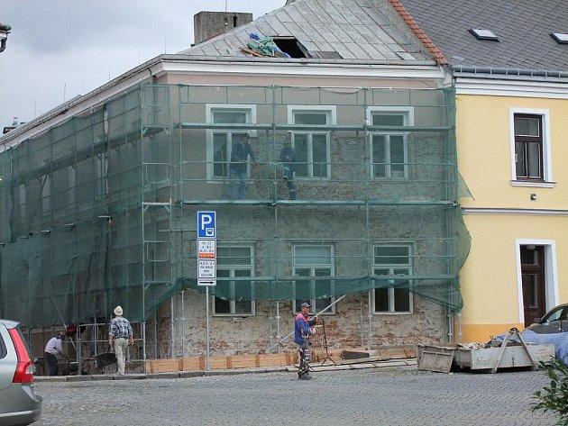 Oprava budovy Muzea Komenského na Horním náměstí v Přerově