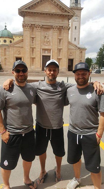 Robert Hanák, Karel Plášek a Pavel Hanák na MS masters v Itálii.