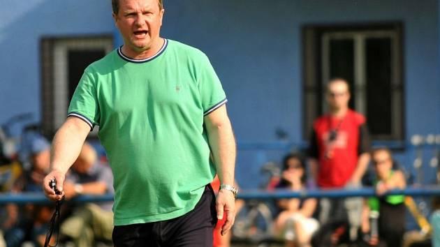 Pavel Vrba na tréninku v Lobodicích v červnu 2013