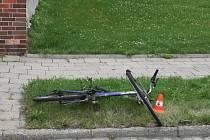 Srážka cyklisty s renaultem v Lipníku