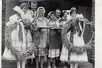 Rok 1965. Sušice - Oslava dožínek.