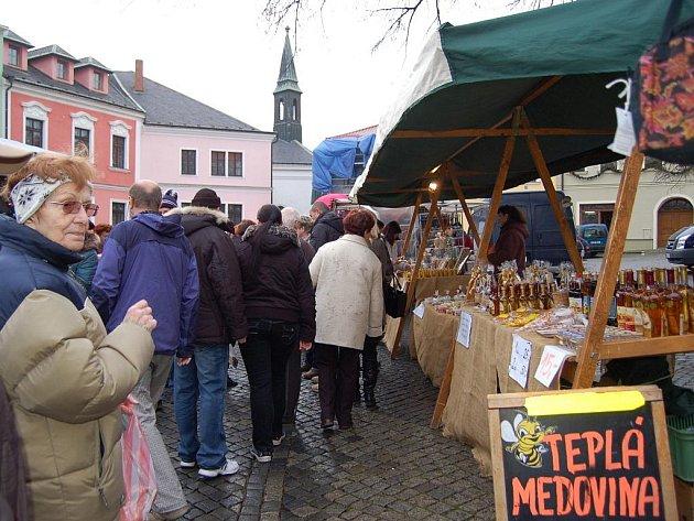 Vánoční trhy na Horním náměstív  Přerově. Ilustrační foto