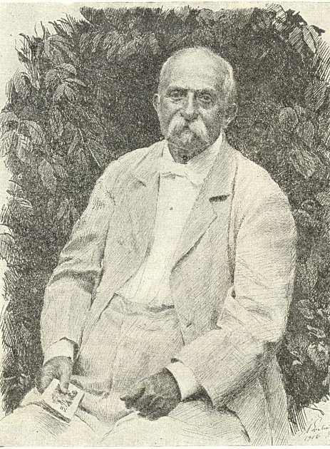 Portrét lipnického mecenáše Jan Neffa, vjehož domě bydlel, komponoval ikoncertoval významný skladatel Antonín Dvořák.