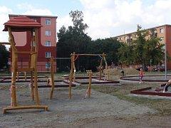 Dětské hřiště v Jasínkově ulici v Přerově
