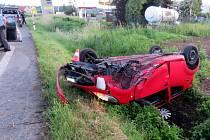 Nehoda řidičky peugeotu v Předmostí