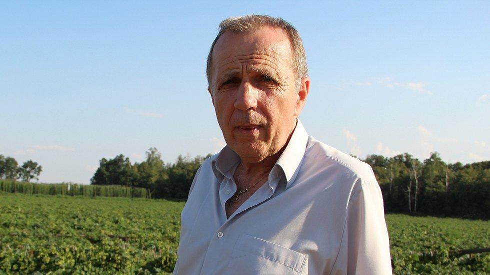 Předseda Zemědělského družstva v Kokorách Vladimír Lichnovský