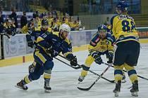 Hokejisté Přerova v přípravném utkání proti Šumperku.