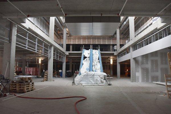 Interiér Galerie Přerov se už začíná rýsovat