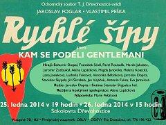 Plakát na divadelní představení dřevohostických ochotníků