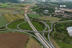 Vizualizace dálnice D1 u Přerova - záběr z videoprezentace ŘSD