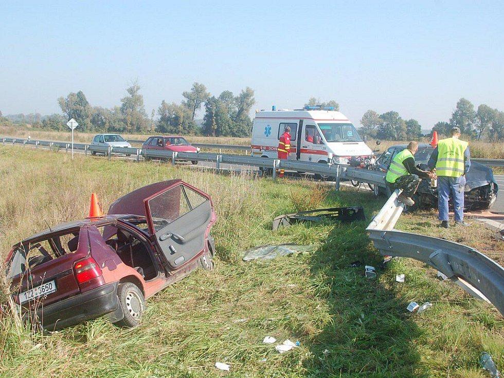 Vážná dopravní nehoda u Kojetína