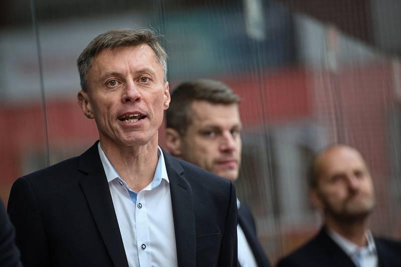Hokejisté Prostějova proti Vsetínu.