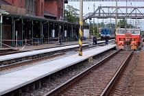 Oprava kolejí a nástupišť v Kojetíně
