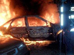 Noční požáry v Předmostí