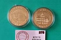 Medaile vydaná k výročí - 760 let města Přerova a medaile v nové sběratelské edici