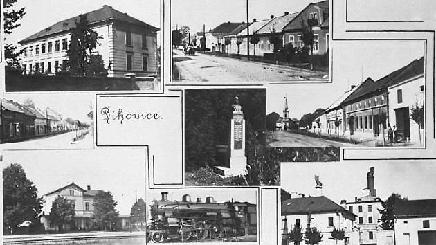 Obec Říkovice na začátku 20. století.