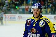 Hokejisté HC Zubr Přerov (v modrých dresech) v přípravě proti Aukro Berani Zlín. Jiří Běhal. Foto: Deník/Jan Pořízek
