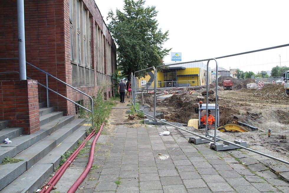 Stavba průpichu u přerovského nádraží, 26, července 2021