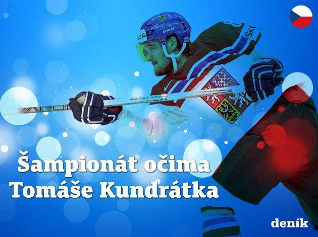 Postřehy obránce českého týmu Tomáše Kundrátka přímo z centra dění mistrovství světa 2017