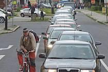 Dopravní zácpy v Přerově - Palackého ulice