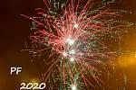 Novoroční ohňostroj 2020 v Brodku u Přerova