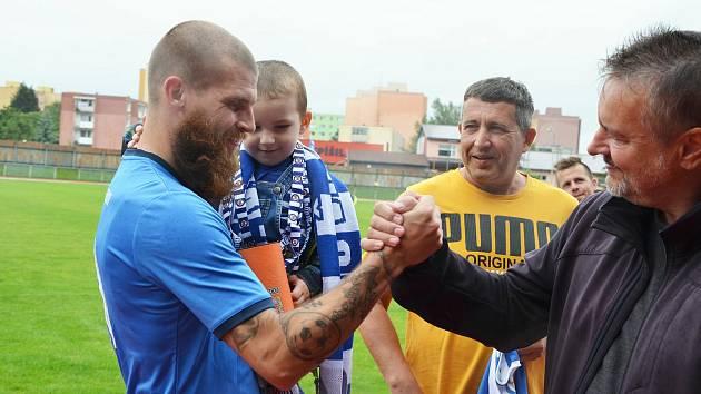 Dlouholetý kapitán Ondřej Václavíček se loučil s 1. FC Viktorie Přerov.