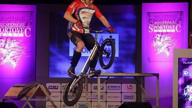 Biketrialista Adam Procházka. Vyhlášení Nejúspěšnějšího sportovce roku 2015 v Přerově