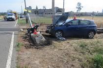 Nehoda v Křenovské ulici v Kojetíně
