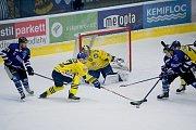 Hokejisté Přerova (ve žlutém) porazili Havířov 4:2