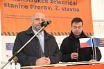 Slavnostním poklepáním na kolejnici začala druhá etapa modernizace železničního uzlu v Přerově. 28.1.2020