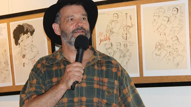 V Galerii města Přerova začala ve čtvrtek odpoledne výstava prací karikaturisty a portrétisty Václava Šípoše.