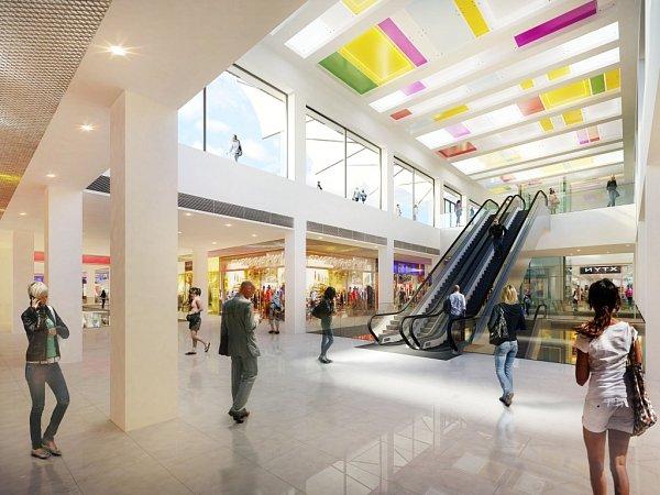 Vizualice nové obchodní galerie vPřerově, která vznikne rekonstrukcí stávajícího Prioru.