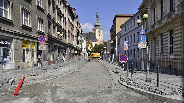 Třetí etapa oprav v Kratochvílově ulici v Přerově