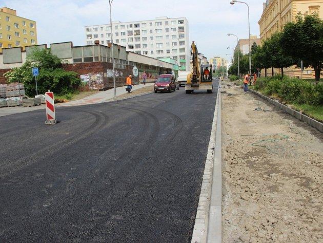 Rozšíření Palackého ulice vPřerově finišuje